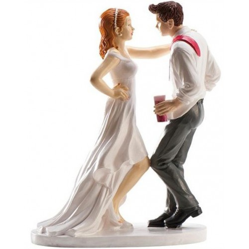 Figurine mariés dansant le rock