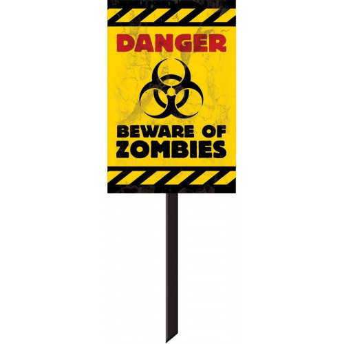Panneau Danger Beware Of Zombies