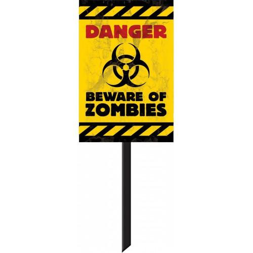 Panneau Danger Beware Of Zombies