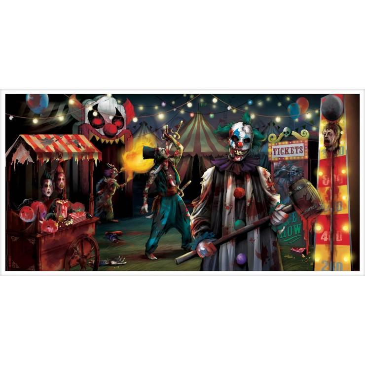 Bannière creepy circus