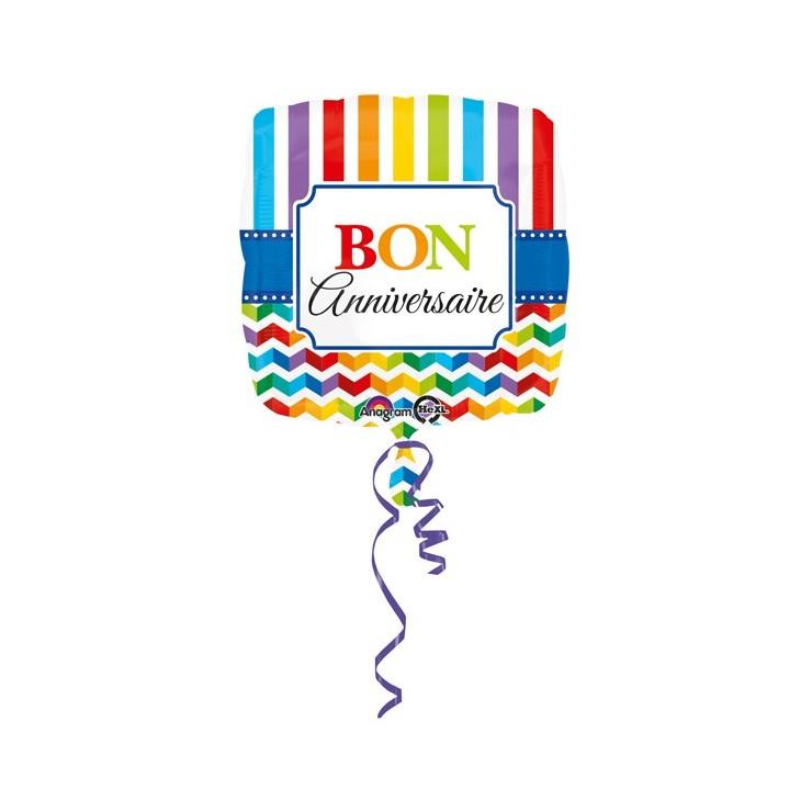 Ballon Bon anniversaire 43cm