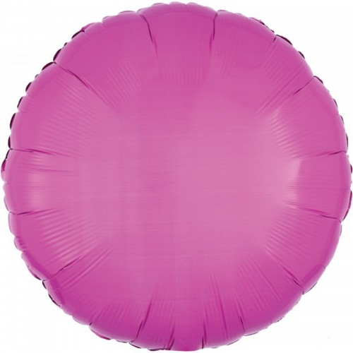 "Ballon mylar rond rose satin 18"""