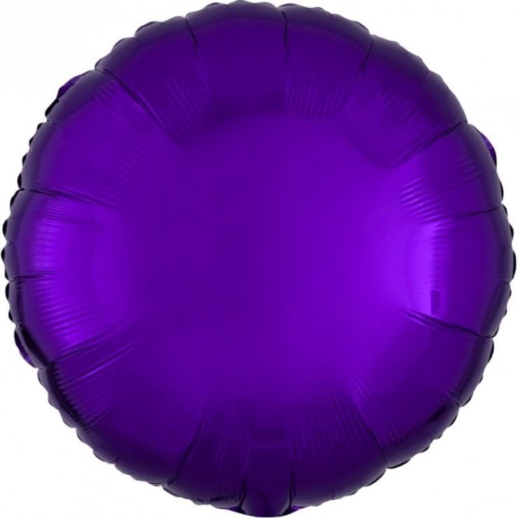 "Ballon mylar rond violet 18"""