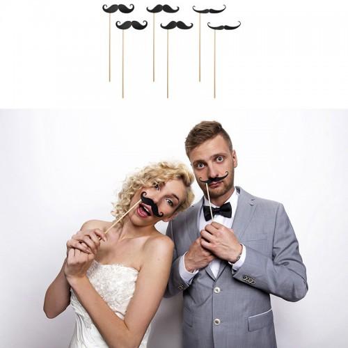 Stick photobooth moustache x6