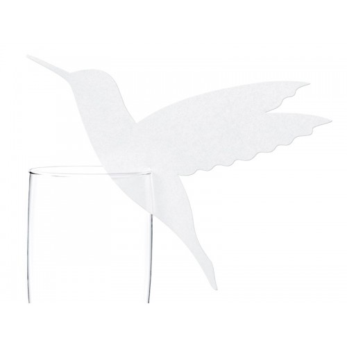 Marque place colombe sur verre x10