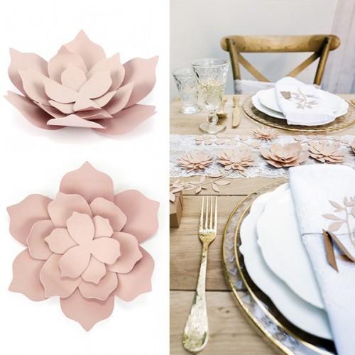 Fleur deco rose pâle x3