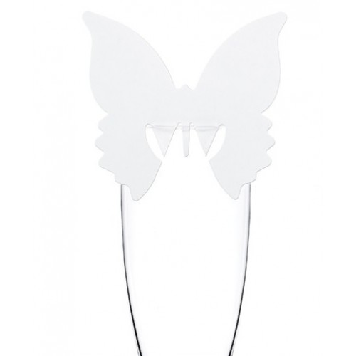 Marque-place papillon sur verre x10