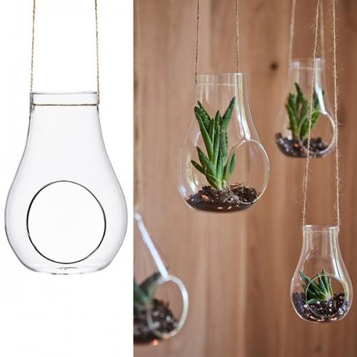 Suspension contenant en verre 15 cm