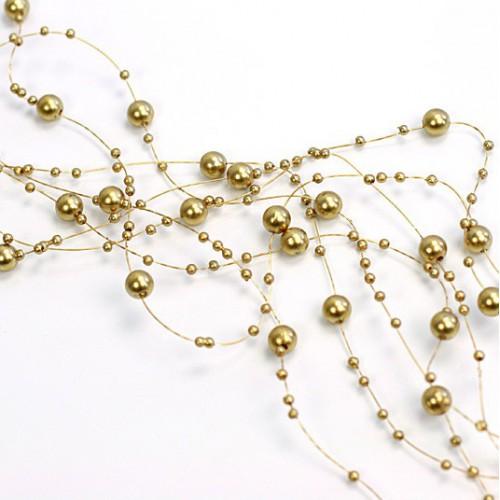 Guirlande perles dorées x5