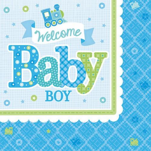 Serviettes Welcome Baby Boy