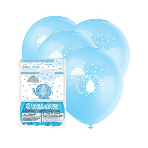 Ballon Baby Shower Bleu x8