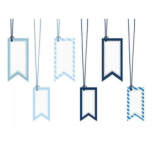 Etiquettes decoratives x6