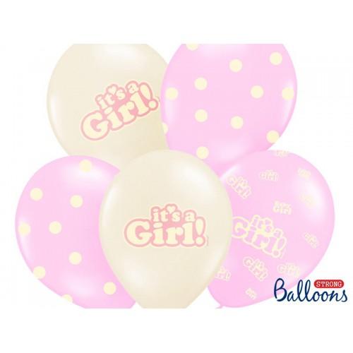 Ballon Baby Shower Rose x6
