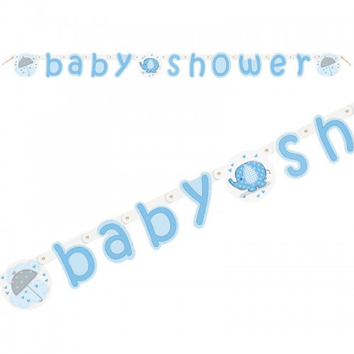 Guirlande Baby Shower bleue