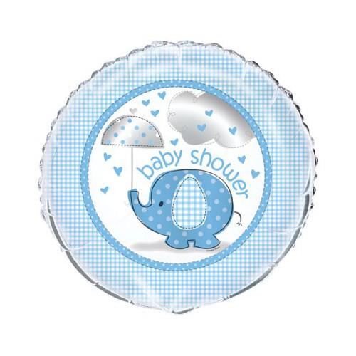 Ballon mylar baby shower garçon 45,7 cm