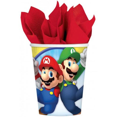 Gobelets super Mario x8