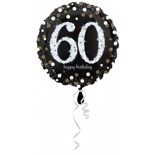 Ballon holographique 60 ans