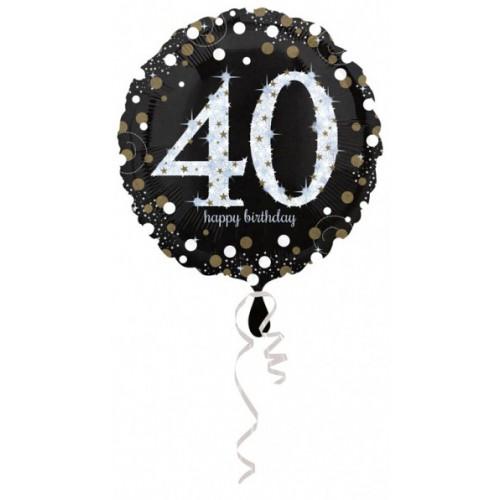 Ballon holographique 40 ans