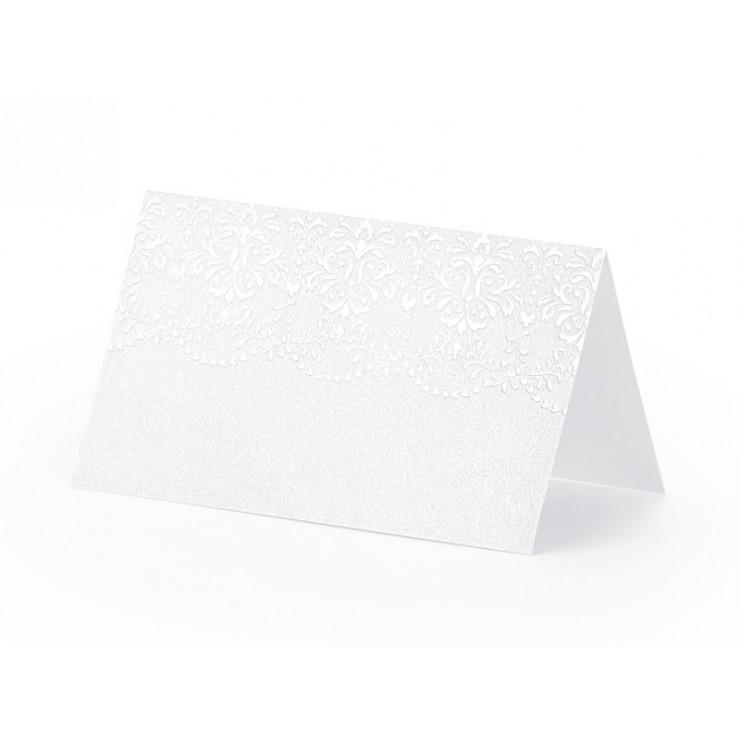 Marque place blanc perlé x10