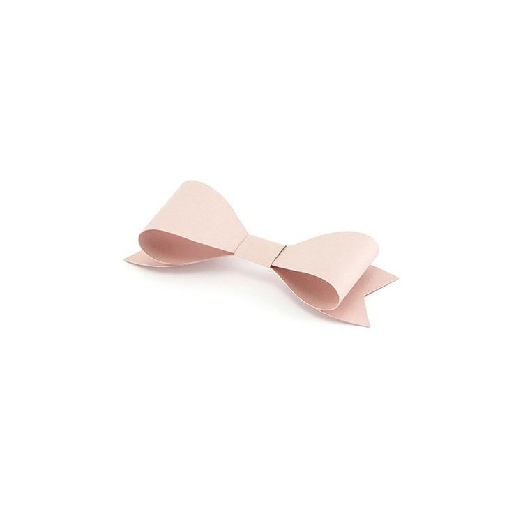 Noeuds deco rose poudré 5,5 cm