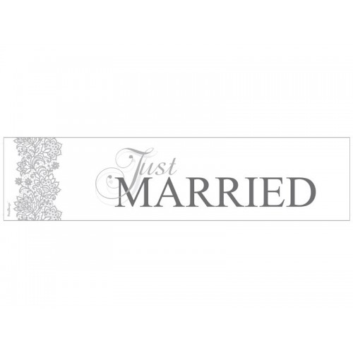 Carte Just married 50 cm