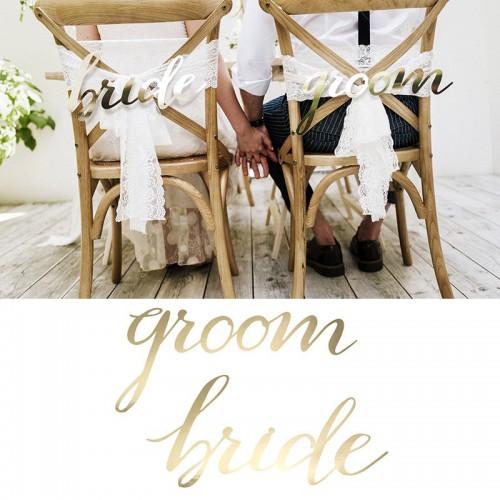 """Découpage pour chaise """"groom"""" et """"bride"""""""