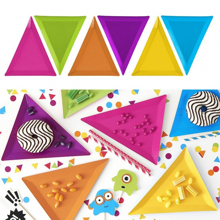 Assiettes triangulaires x6