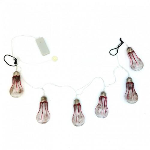 Guirlande ampoules lumineuses sanglantes