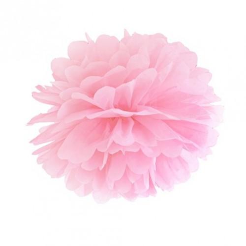 Pompon papier rose 25cm