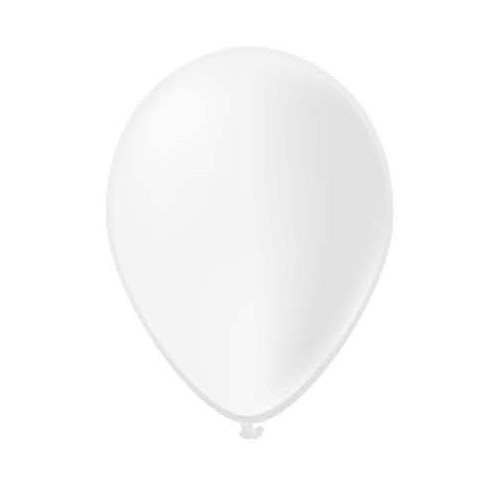 100 ballons blancs