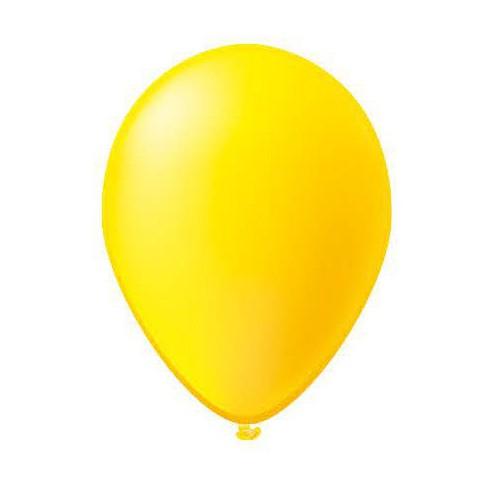 25 ballons jaunes