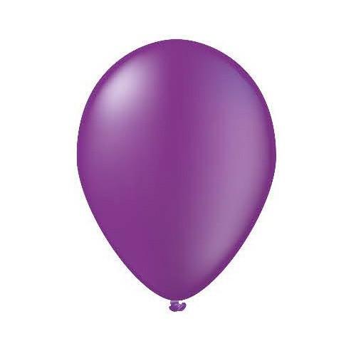 25 ballons lilas