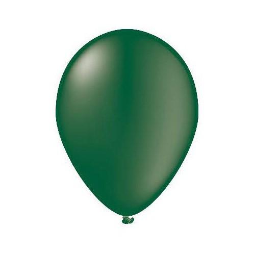 100 ballons vert sapin