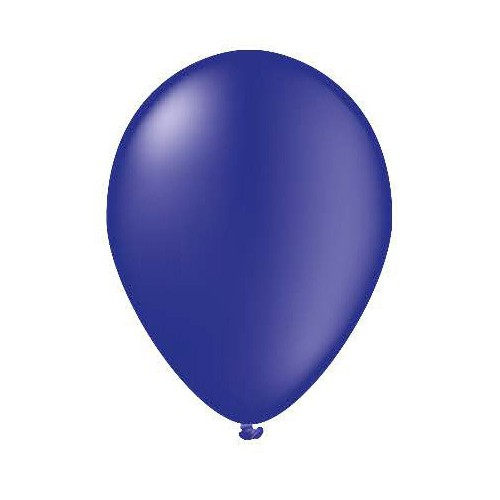 25 ballons bleu marine