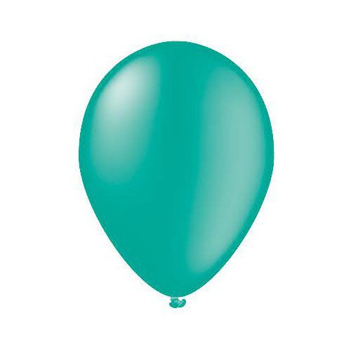 25 ballons turquoise