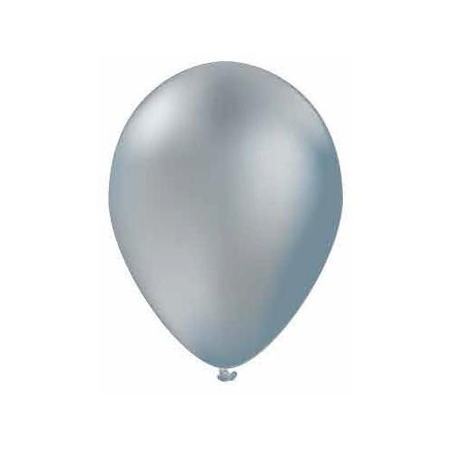 100 ballons argentés