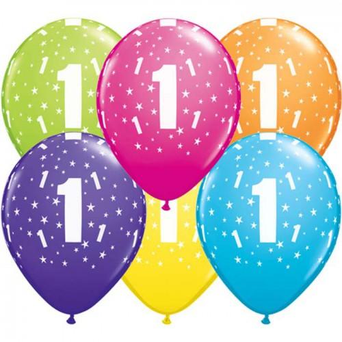 5 ballons chiffres 1