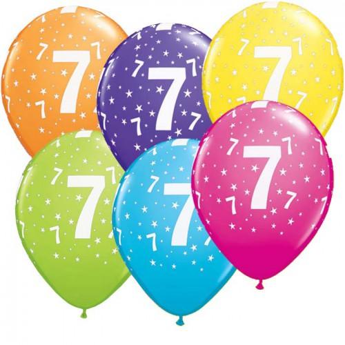 5 ballons chiffres 7