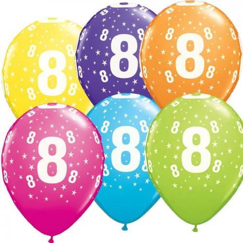 5 ballons chiffres 8