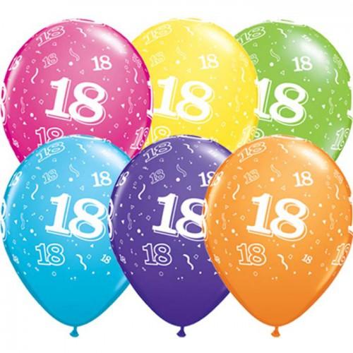 5 ballons chiffres 18