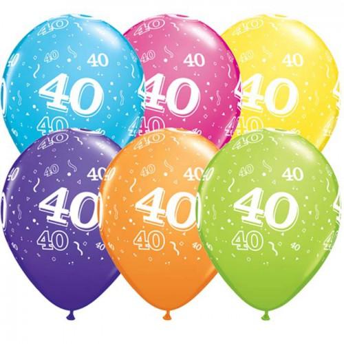 5 ballons chiffres 40