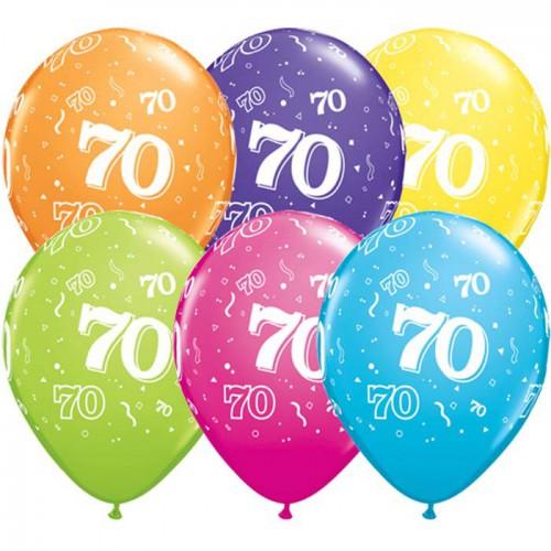 5 ballons chiffres 70