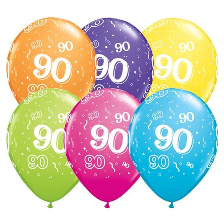 5 ballons chiffres 90