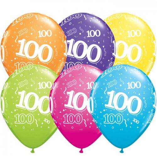 5 ballons chiffres 100