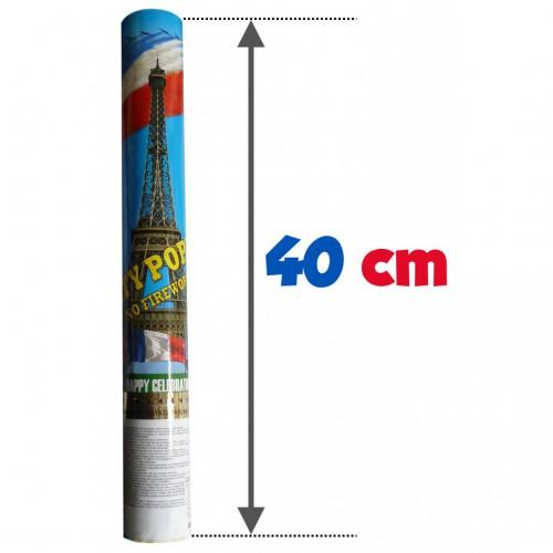 Canon à confettis tricolore 40cm