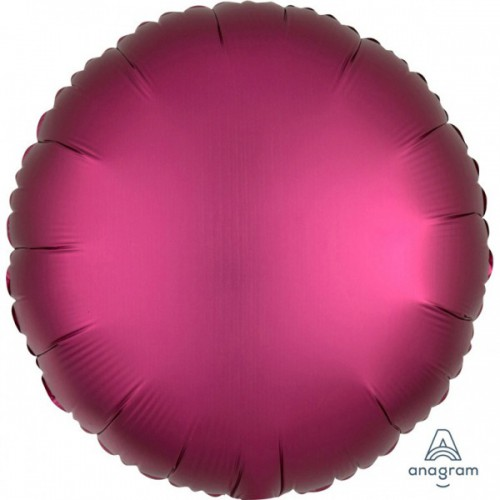 Ballon mylar rond rose satiné