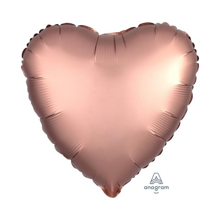 Ballon mylar coeur rose cuivre