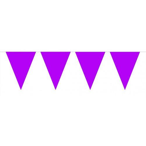 Guirlande fanions violets
