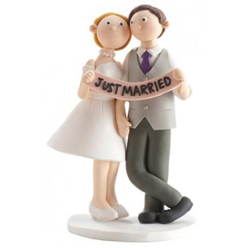 Figurine mariés Just married