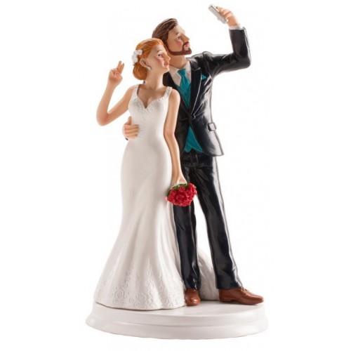 Figurine mariés selfie